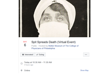 May 6 2020: Spit Spreads Death (Virtual Event)