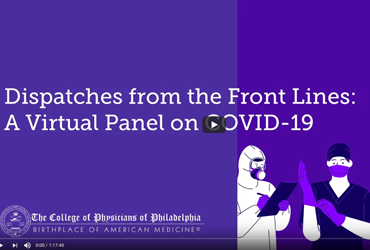 May 21 2020: Dispatches from the Front Lines: A Virtual Panel on COVID-19