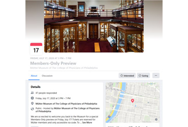 July 17 2020: The Mütter Museum reopens for a Members-Only Preview