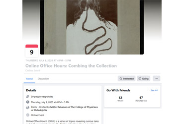 July 9 2020: Online Office Hours: Combing the Collection (Virtual Event)