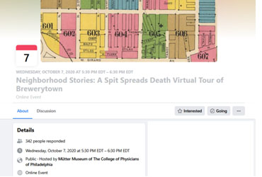 October 7 2020: Neighborhood Stories: A Spit Spreads Death Virtual Tour of Brewerytown