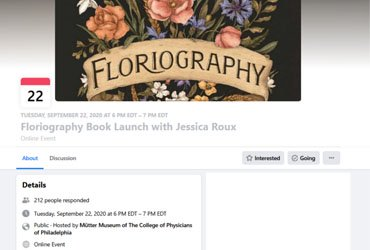 September 22 2020: Floriography Book Launch with Jessica Roux
