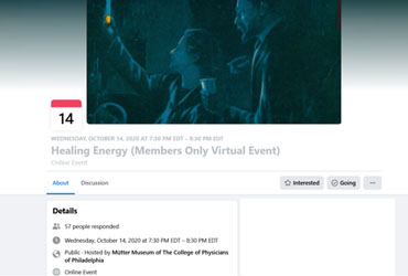 October 14 2020: Healing Energy (Members Only Virtual Event)