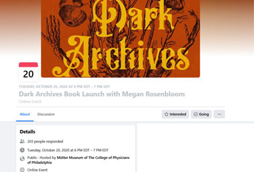 October 20 2020: Dark Archives Book Launch with Megan Rosenbloom