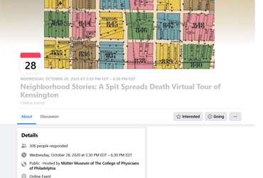 October 28 2020: Neighborhood Stories: A Spit Spreads Death Virtual Tour of Kensington