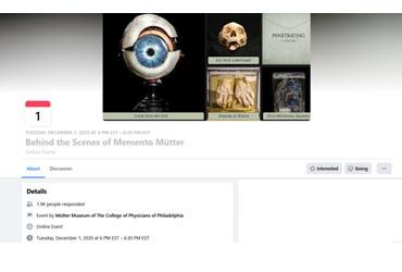 December 1 2020: Behind the Scenes of Memento Mütter